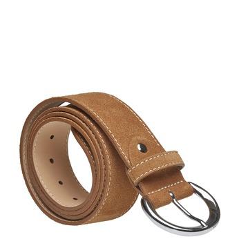 Dámsky kožený opasok bata, hnedá, 953-3111 - 13