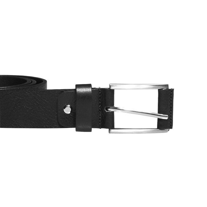 Klasický kožený opasok bata, čierna, 954-6833 - 26