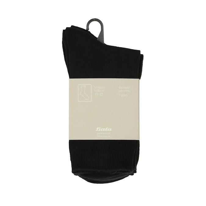 Dámske ponožky 3 páry bata, čierna, 919-6474 - 13
