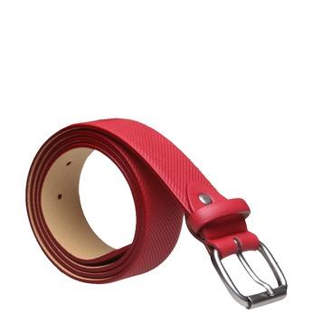 Kožený opasok s perforáciou bata, červená, 954-5154 - 13