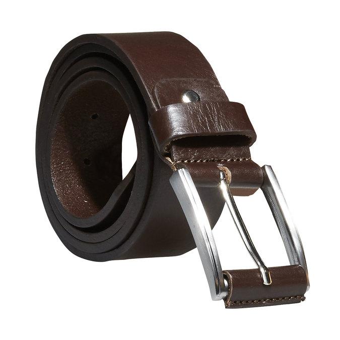 Klasický kožený opasok bata, hnedá, 954-4833 - 13