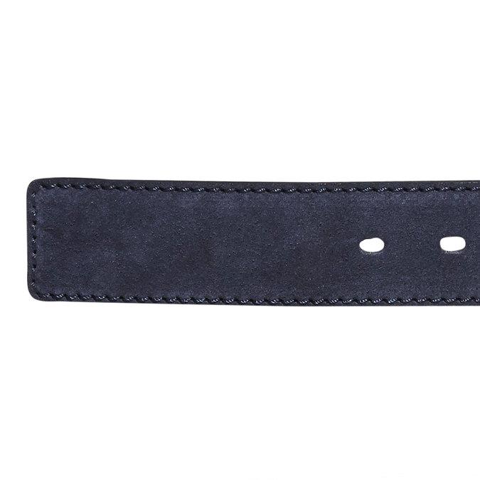 Pánsky kožený opasok bata, modrá, 953-9106 - 16