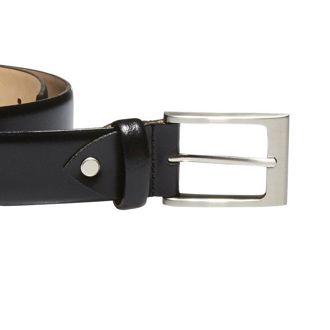 Klasický kožený opasok bata, čierna, 954-6819 - 26