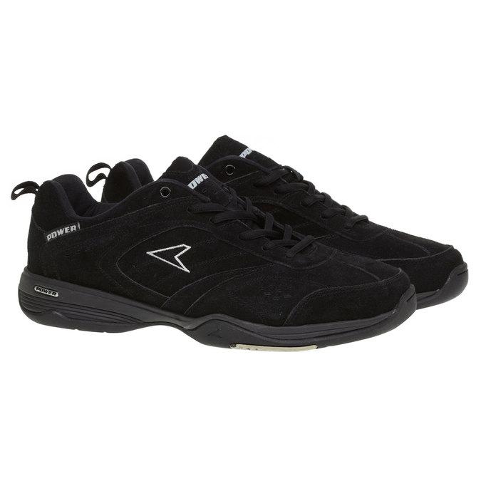 Kožené športové tenisky power, čierna, 503-6300 - 26
