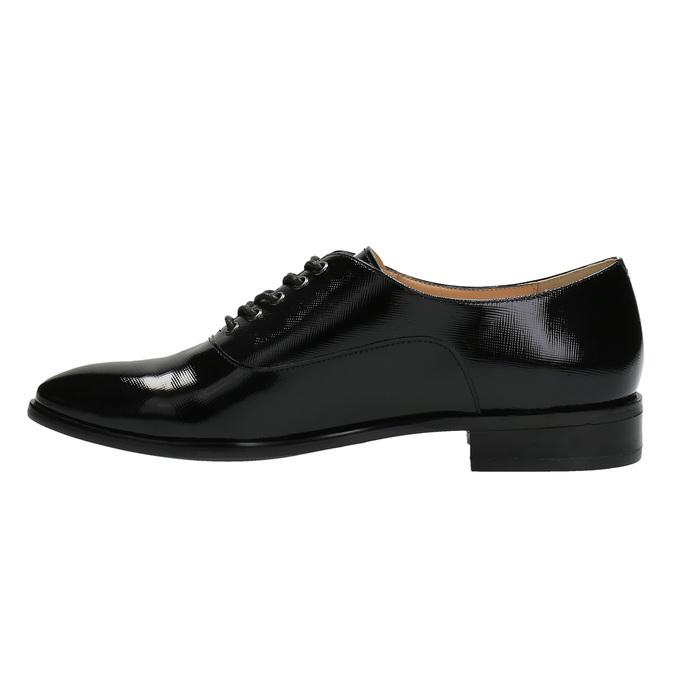 Dámske kožené poltopánky bata, čierna, 528-6631 - 26