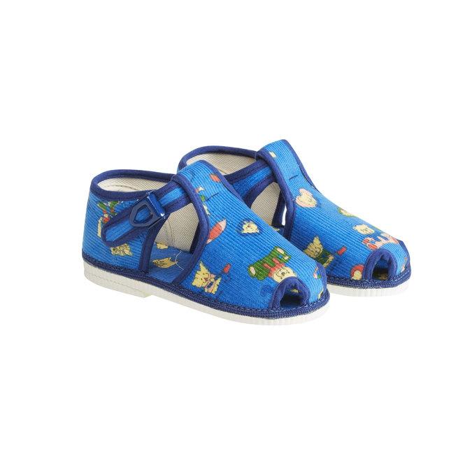 Detská domáca obuv k členkom bata, modrá, 179-9210 - 26