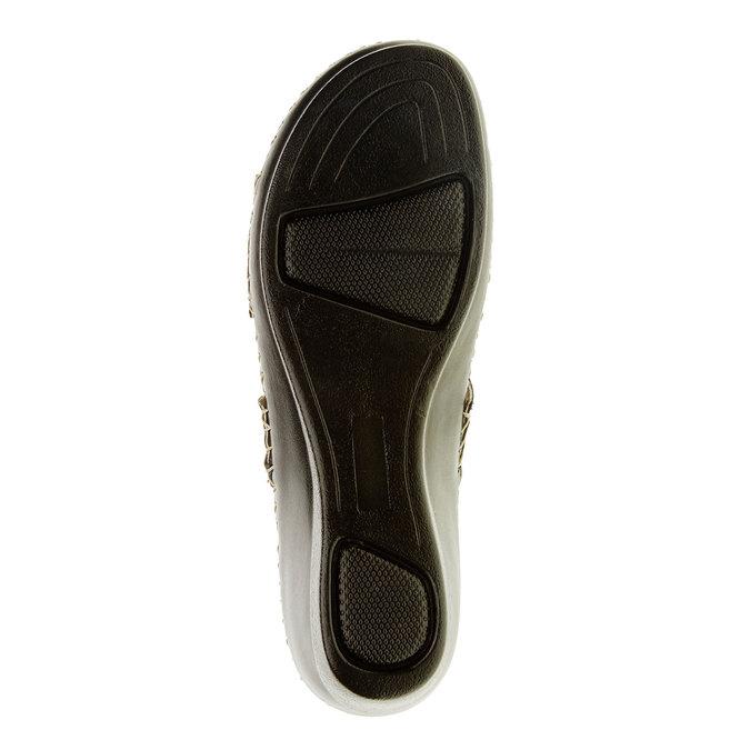 Dámske papuče na klinovom podpätku comfit, modrá, 674-9249 - 26