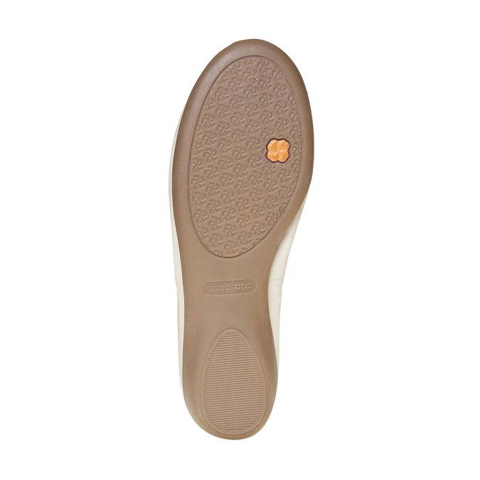 Dámske kožené baleríny bata, béžová, 524-8485 - 26