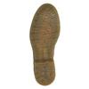 Kožené poltopánky s kvetinovým vzorom bata, hnedá, 526-5611 - 26