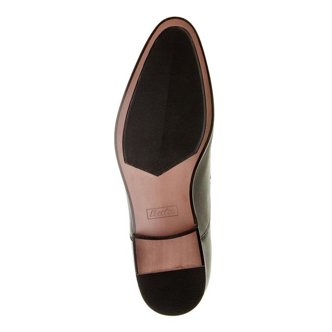 Pánske kožené poltopánky bata, čierna, 824-6663 - 26
