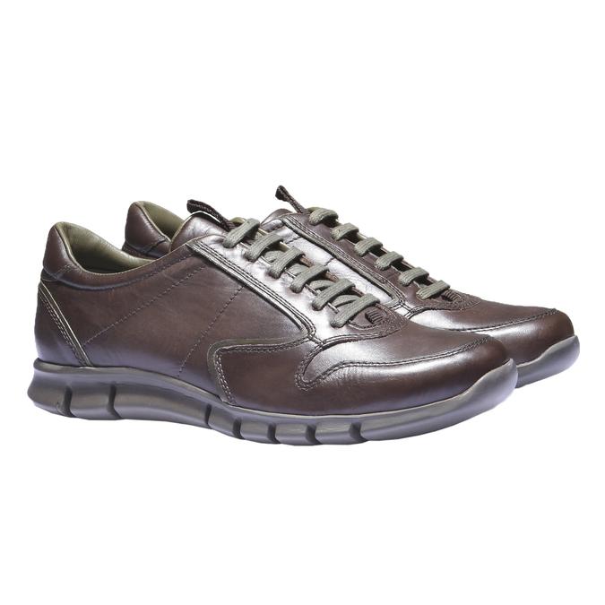 Kožené tenisky bata, hnedá, 844-4270 - 26