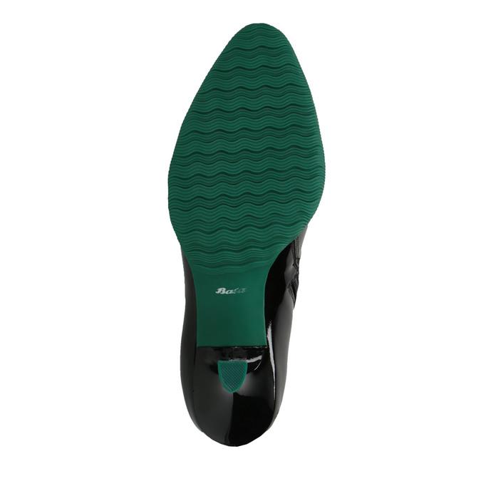 Kožené čižmy s gumovou špičkou bata, čierna, 796-6630 - 26