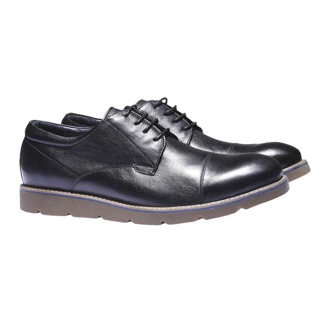 Poltopánky z kože bata, čierna, 824-6197 - 26