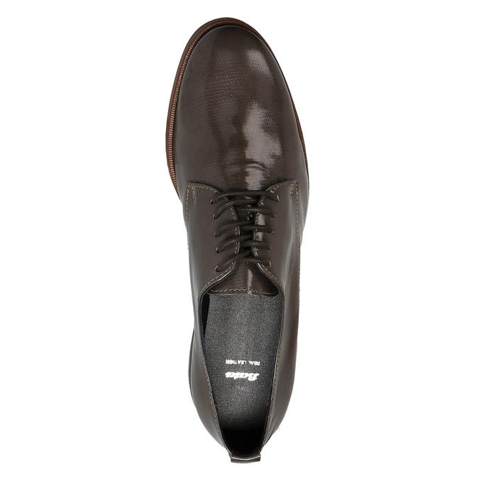 Dámske kožené poltopánky bata, hnedá, 528-2600 - 19