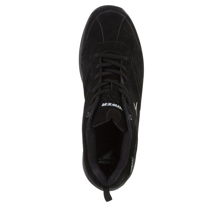 Kožené športové tenisky power, čierna, 503-6300 - 19
