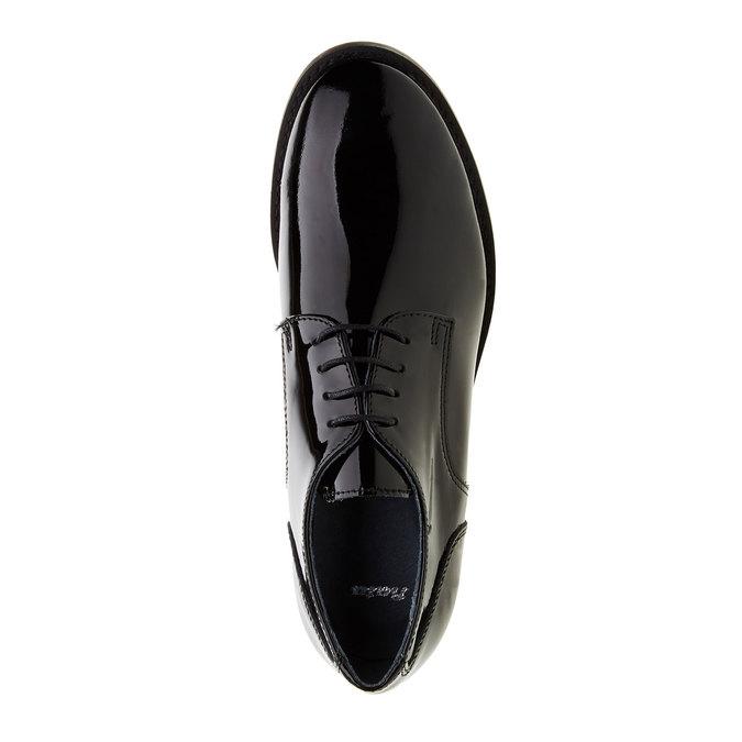 Dámske poltopánky z lakovanej kože bata, čierna, 528-6117 - 19