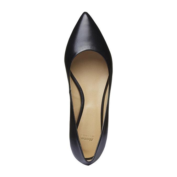 Čierne kožené baleríny do špičky bata, čierna, 524-6493 - 19
