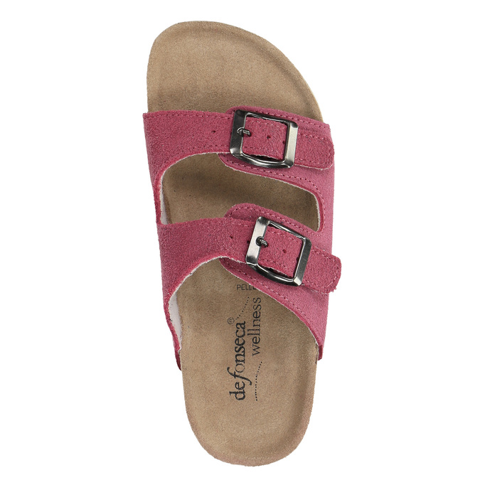 Detské ružové papuče de-fonseca, ružová, 373-5600 - 19