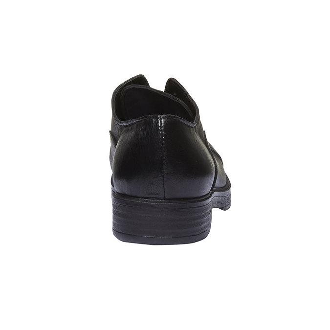 Kožené dámske poltopánky bata, čierna, 514-6166 - 19
