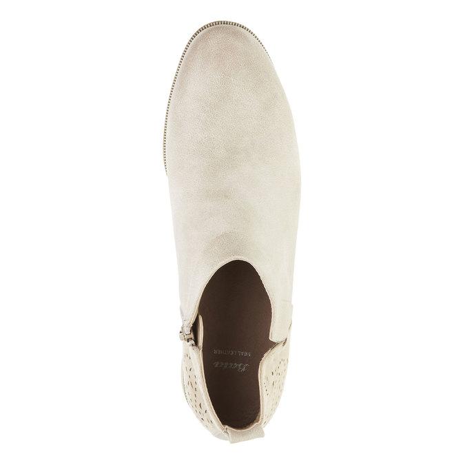 Jarné členkové čižmy bata, biela, 591-8100 - 19