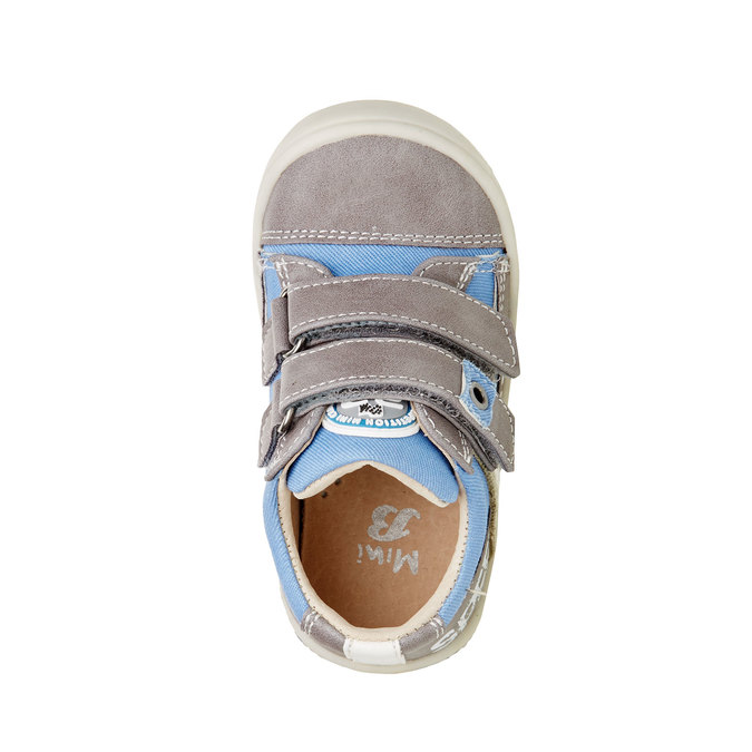 Detské topánky na suchý zips mini-b, šedá, 111-2104 - 19