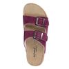 Dámske kožené papuče de-fonseca, fialová, 573-5620 - 19