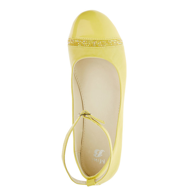 Žlté balerínky s remienkom mini-b, žltá, 321-8181 - 19