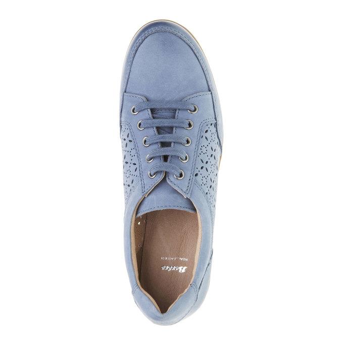Ležérne kožené tenisky bata, modrá, 524-9511 - 19