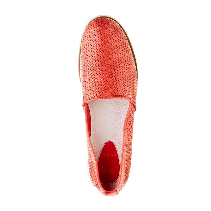 Dámske Slip on s pleteným vzorom flexible, červená, 515-5203 - 19