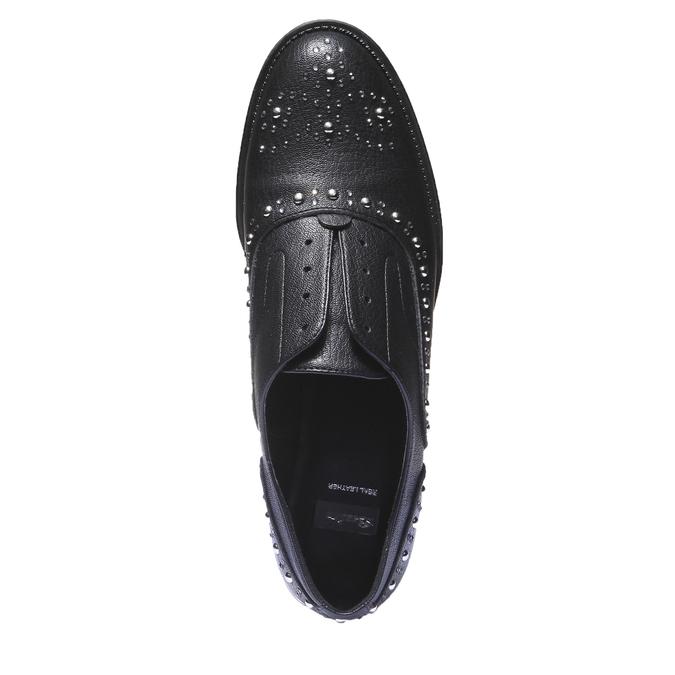 Dámské Slip-on s kovovými cvočkami bata, čierna, 511-6161 - 19