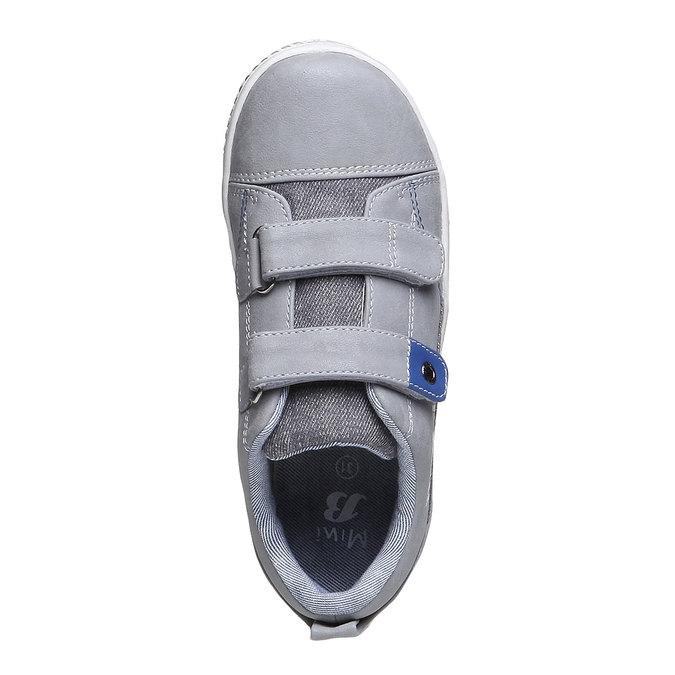 Detské tenisky na suchý zips mini-b, šedá, 211-2157 - 19