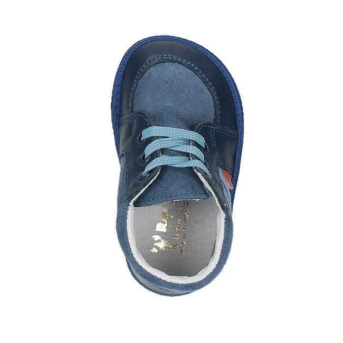 Detská kožená domáca obuv bata, modrá, 104-9001 - 19