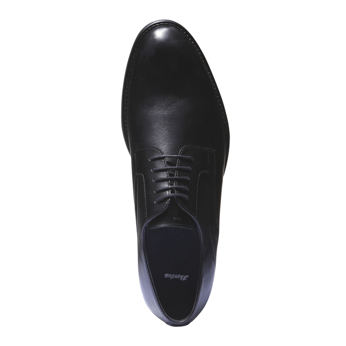 Kožené poltopánky v štýle derby bata, čierna, 824-6108 - 19