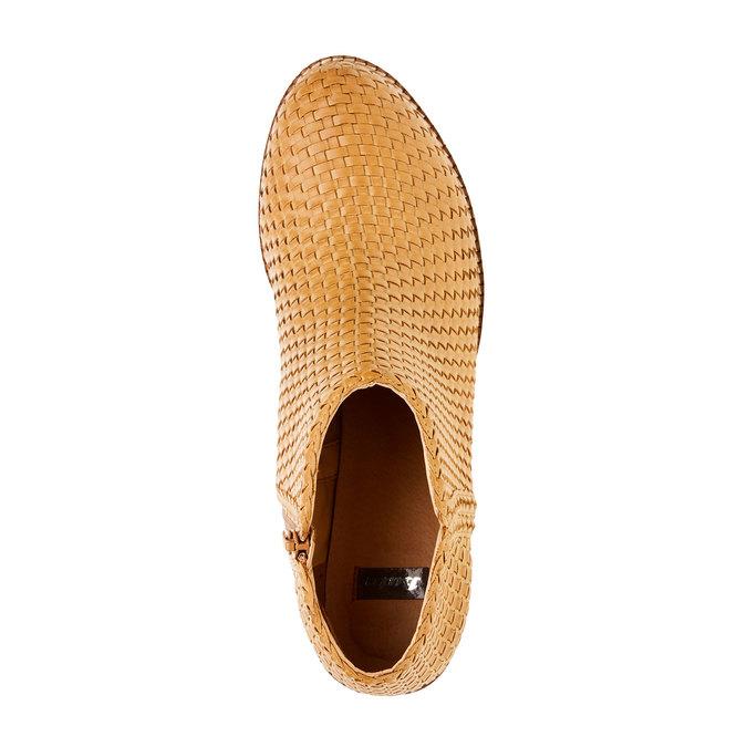 Členkové čižmy v pletenom designe bata, hnedá, 691-8273 - 19