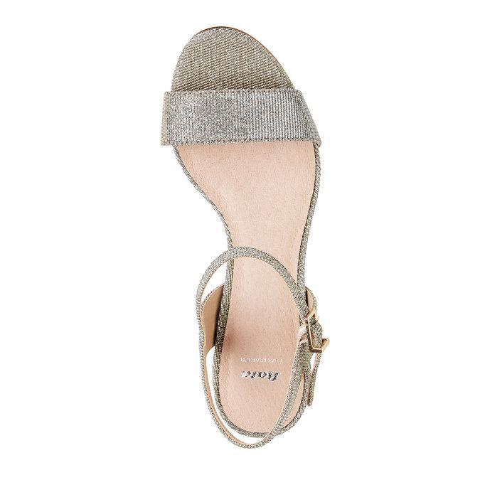 Strieborné sandále na ihličkovom podpätku bata, strieborná, 761-1310 - 19