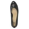 Čierne kožené lodičky bata, čierna, 624-6600 - 19