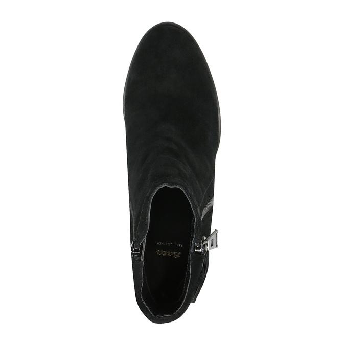 Kožené členkové čižmy so strapcami bata, čierna, 793-6602 - 19