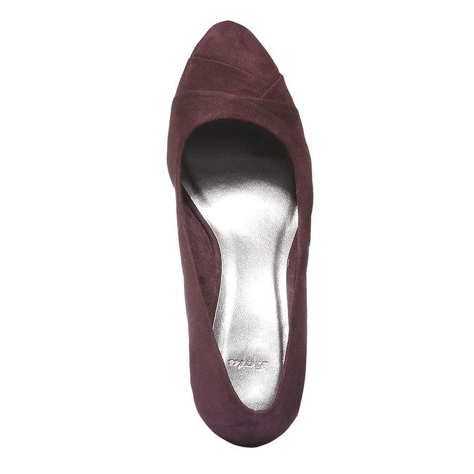 Lodičky na klinovom podpätku bata, fialová, 729-5231 - 19