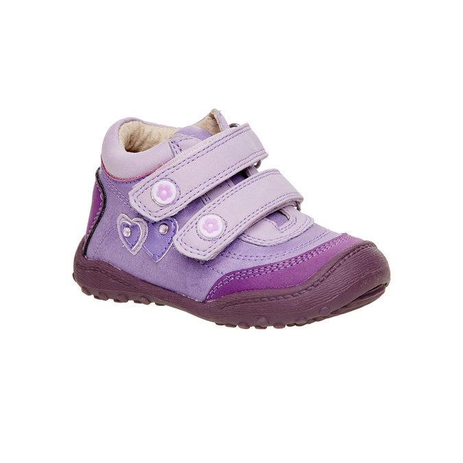Dievčenské členkové topánky mini-b, fialová, 121-9104 - 13