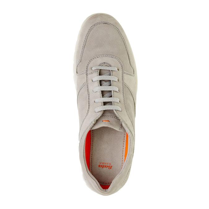 Ležérne kožené tenisky flexible, béžová, 846-2650 - 19