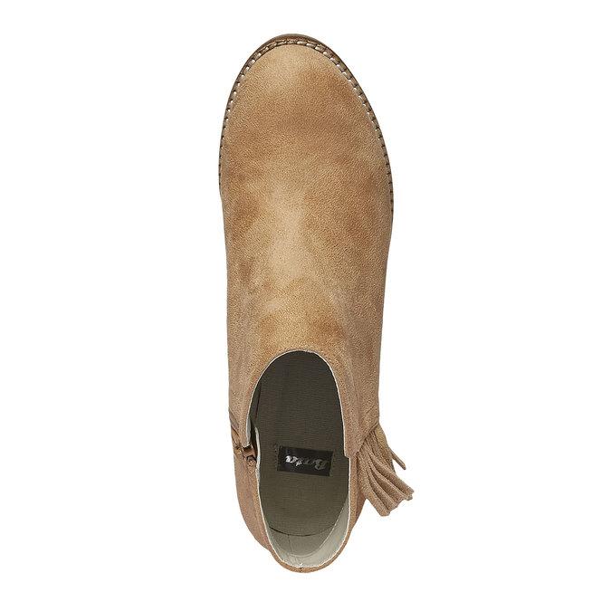 Členkové čižmy so strapcami bata, hnedá, 699-8283 - 19