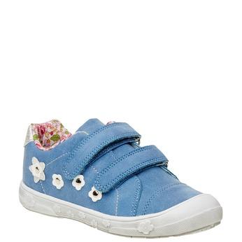 Dievčenské tenisky na suchý zips mini-b, modrá, 221-9161 - 13