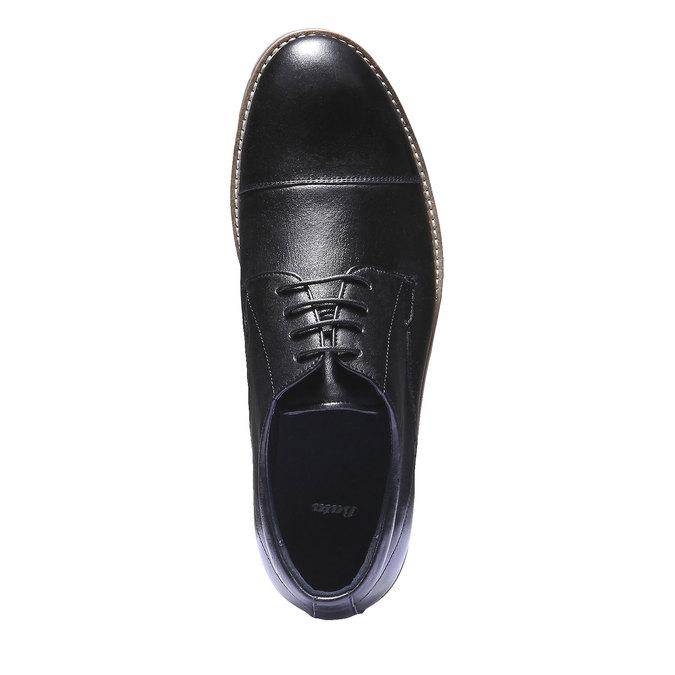 Poltopánky z kože bata, čierna, 824-6197 - 19
