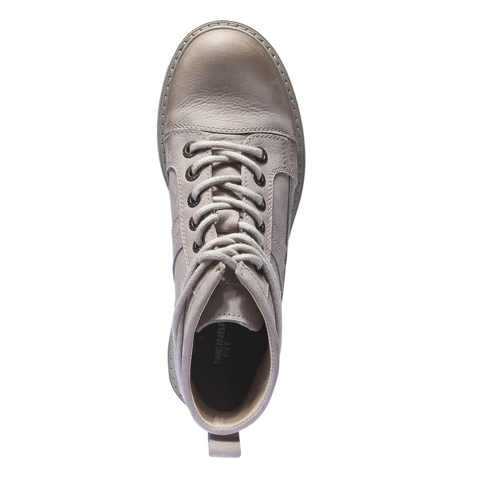 Kožená obuv s originálnymi šnúrkami weinbrenner, žltá, 596-8409 - 19