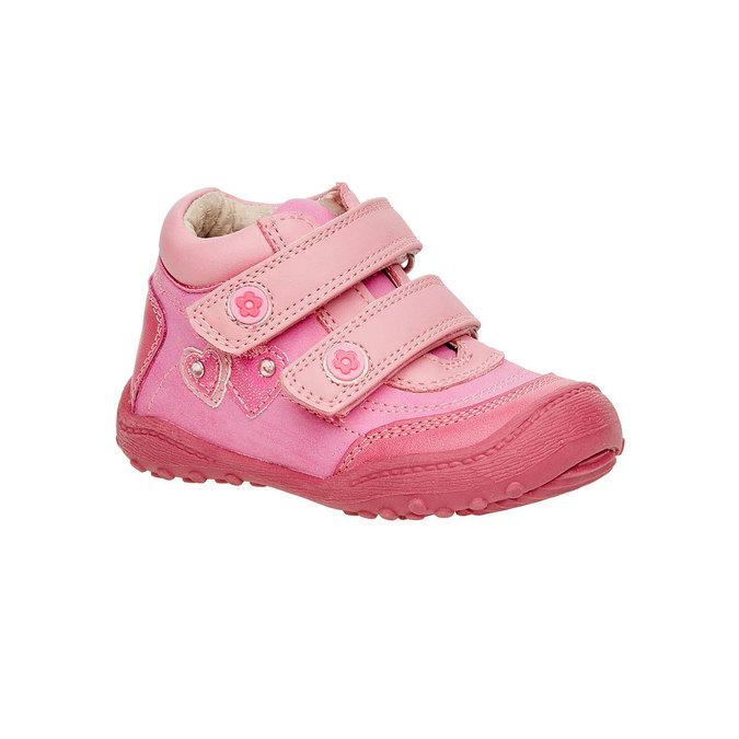 Dievčenské členkové topánky mini-b, ružová, 121-5104 - 13
