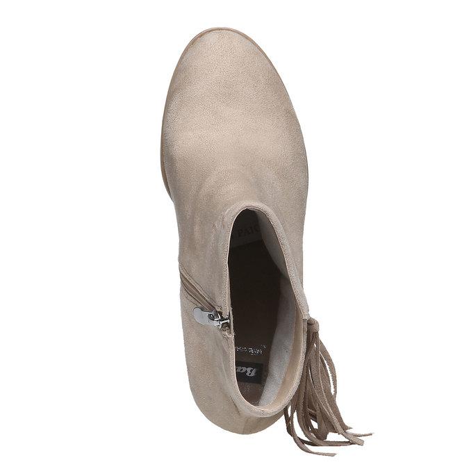 Členkové čižmy s trblietkami bata, béžová, 799-8628 - 19