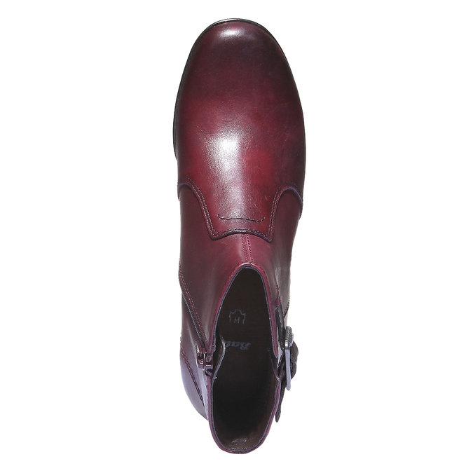 Dámska členková obuv bata, červená, 794-5100 - 19