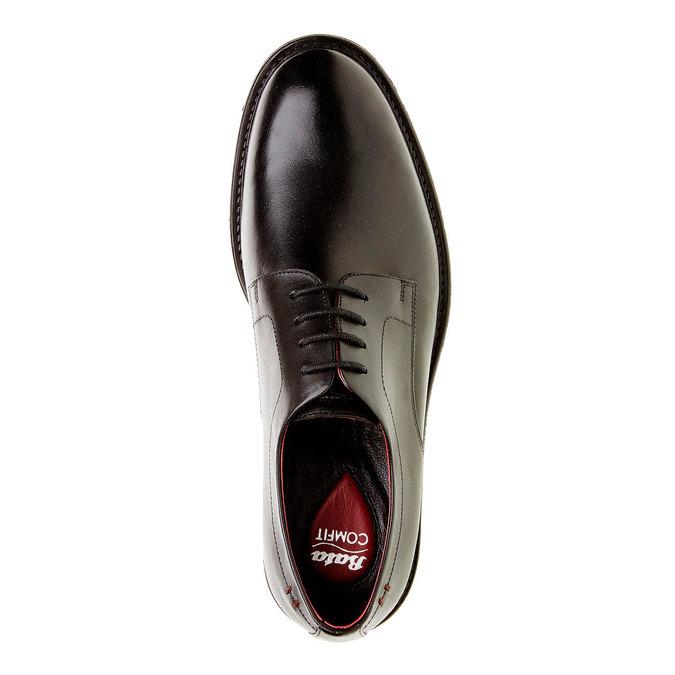 Comfort – kožené poltopánky v Brogue štýle bata-comfit, čierna, 824-6938 - 19