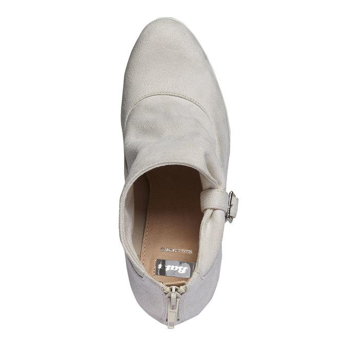Členkové čižmy s výraznou podrážkou bata, šedá, 799-8630 - 19