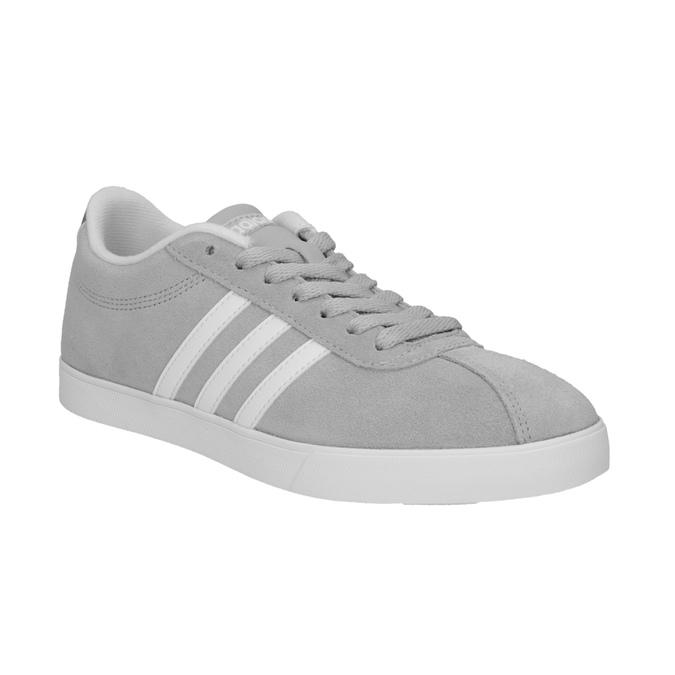 Šedé dámske tenisky z brúsenej kože adidas, šedá, 503-2201 - 13